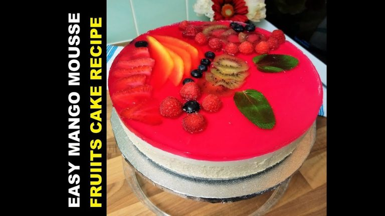 Easy Mango Mousse Cake Recipe / How to Bake Mango Mousse Cake?